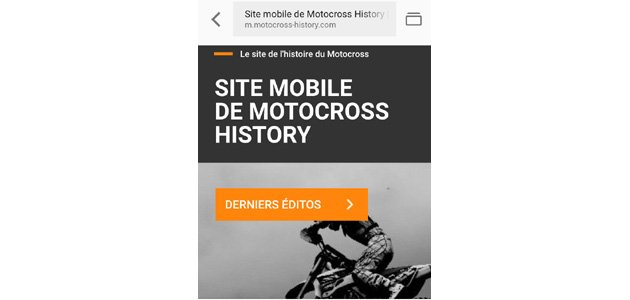 Motocross History se modernise !