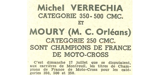 Palmarès Championnat de France 1949  500cc
