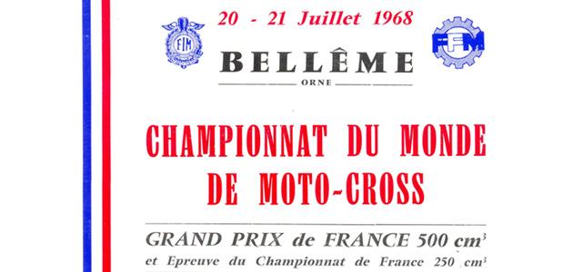 Programme GP France 1968  500cc