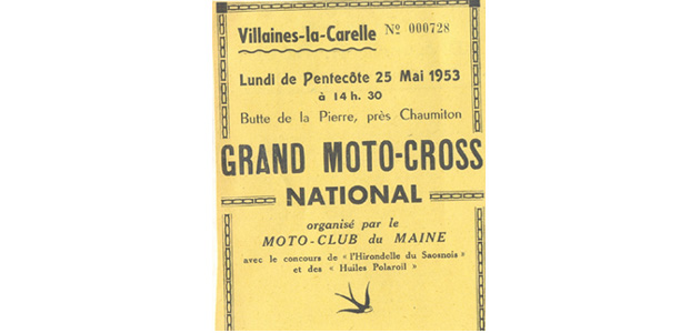 Programme Villaines La Carelle 1954