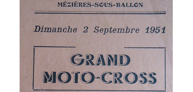Programme Mezieres sous Ballon 1951